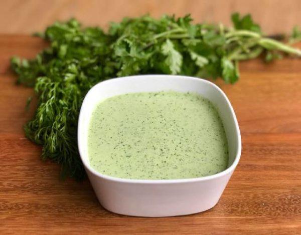 Salsa de cilantro
