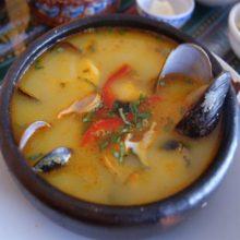 Sopa picante de mejillones