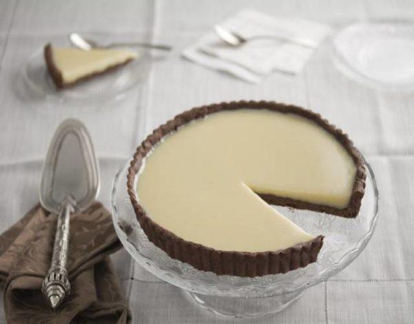 Tarta de chocolate blanco y gelatina