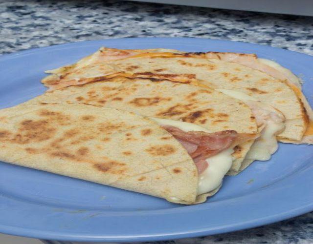 Receta de Quesadillas de pavo y queso