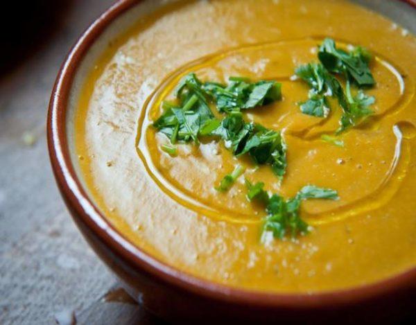 crema de boniato y zanahoria
