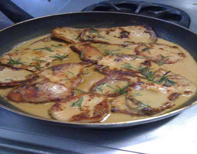 Receta de Chuletas con salsa alfredo