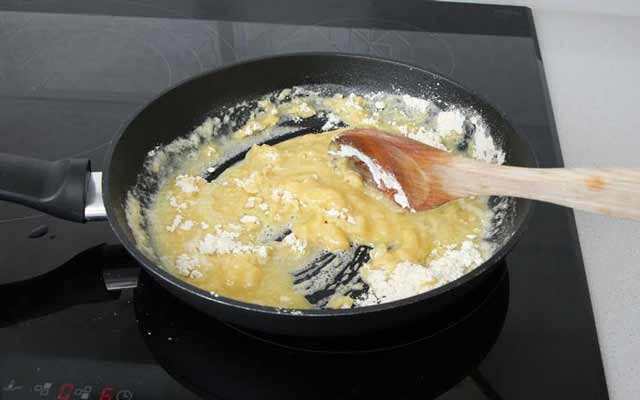 Soufflé de arroz con queso