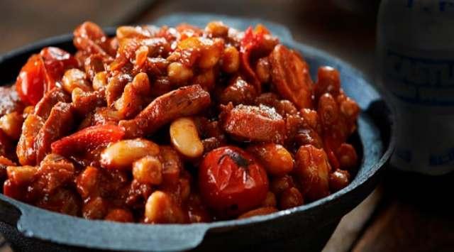Alubias Verdinas con Chorizo