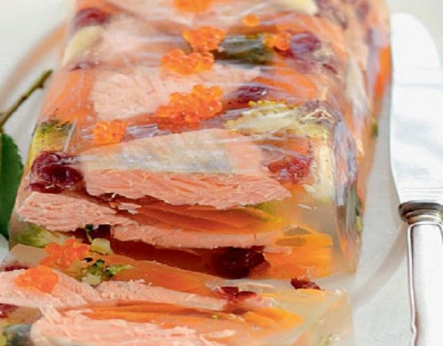 Aspic de salmón