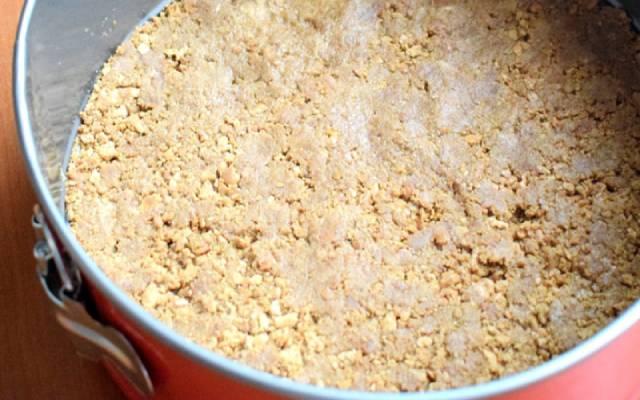 Tarta de arroz con leche y galletas