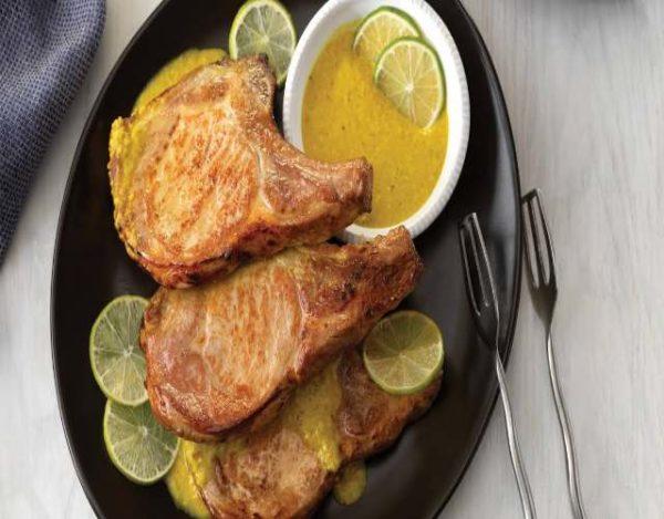 Chuletas de Cerdo con Salsa Limón