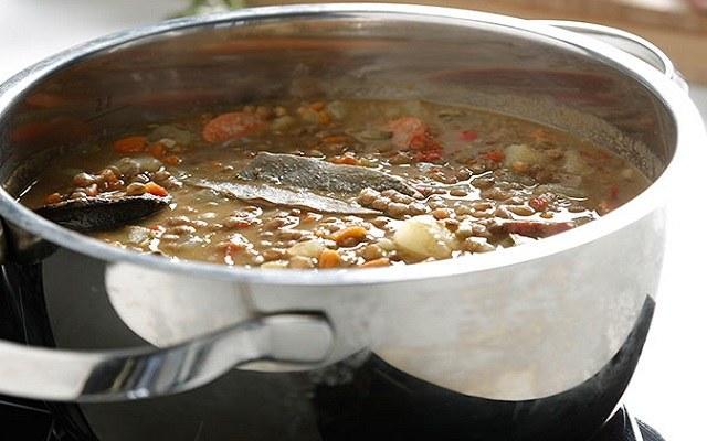 Sopa de alubias con verduras
