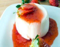 Receta de Crema de almendras y fresas
