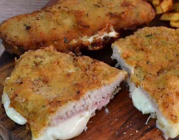 Filetes rellenos con jamón york y queso