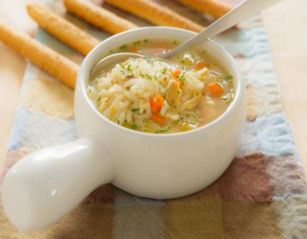 Receta de Sopa de arroz blanco
