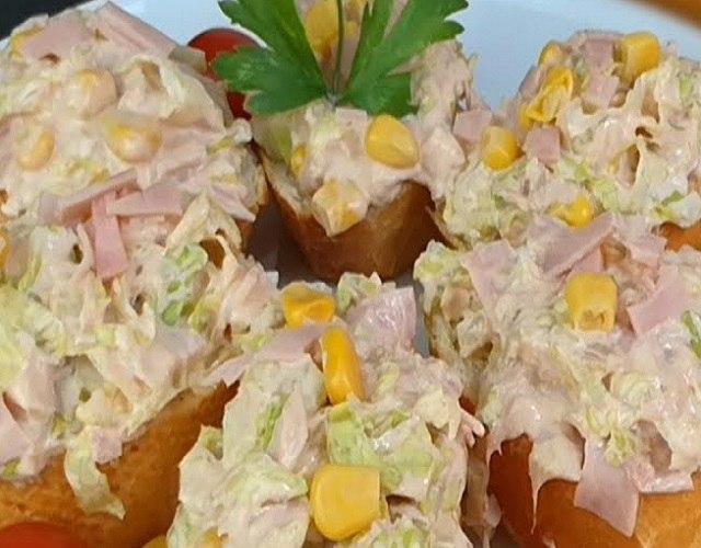 Montadito de atún con mayonesa