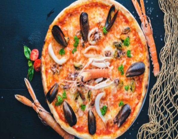 Pizza marinera casera