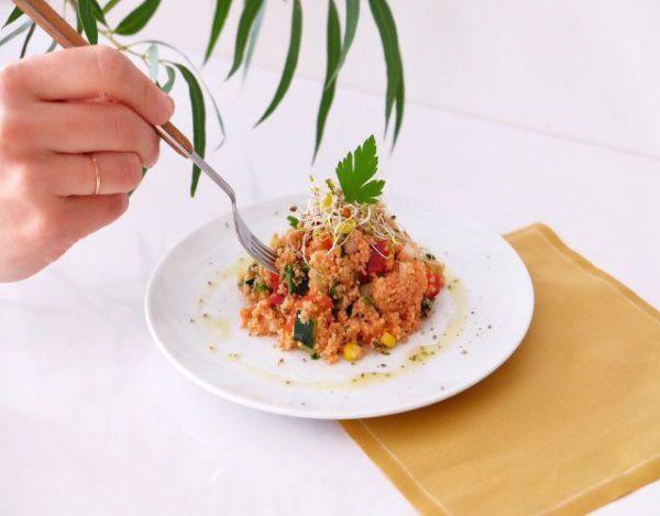 Receta de Tabulé de verduras crudas