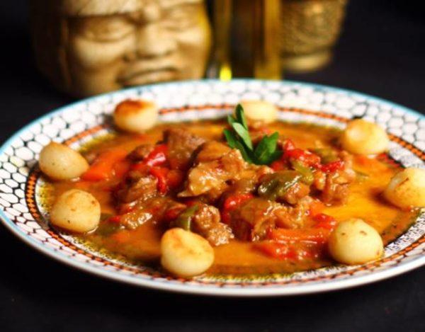 Ternera al curry rojo