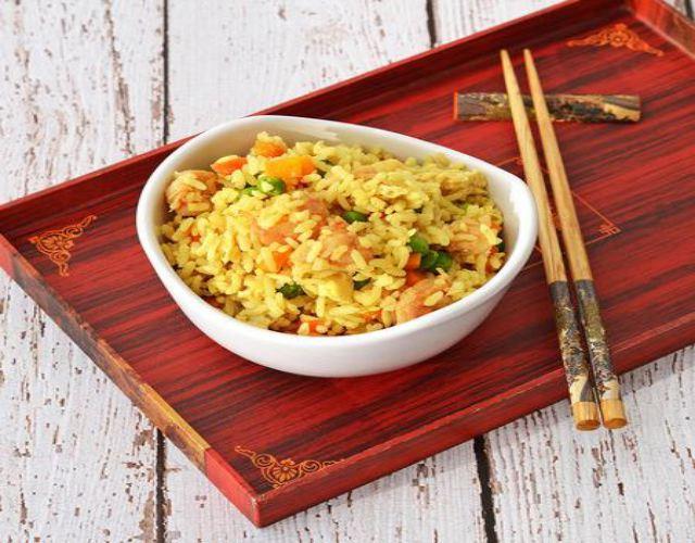 Receta de Arroz frito con curry