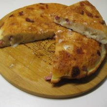 Tortilla de Bacon y Queso