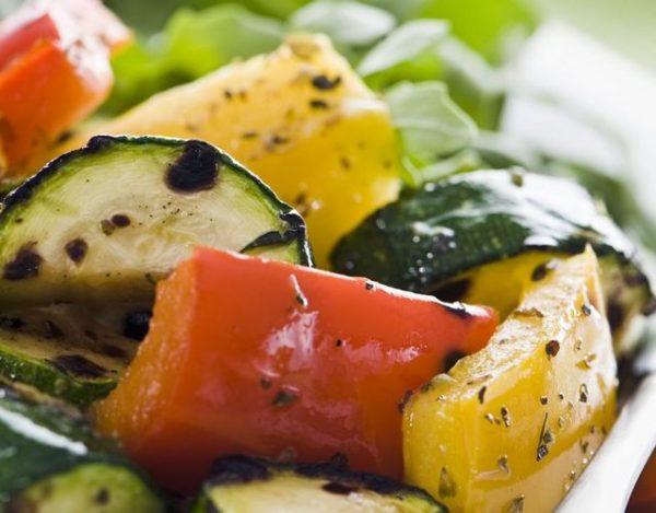 Ensalada asada de verduras