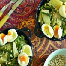 Receta de Ensalada de berros con huevo mollets