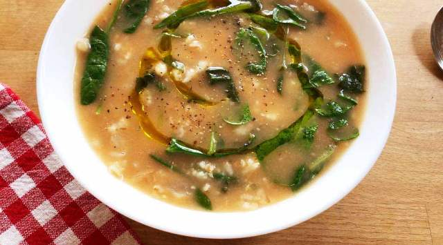 Sopa de Espinacas y Avena