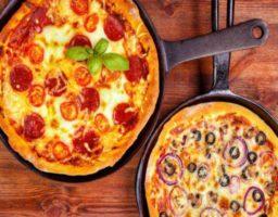 Receta de Pizza casera en sartén