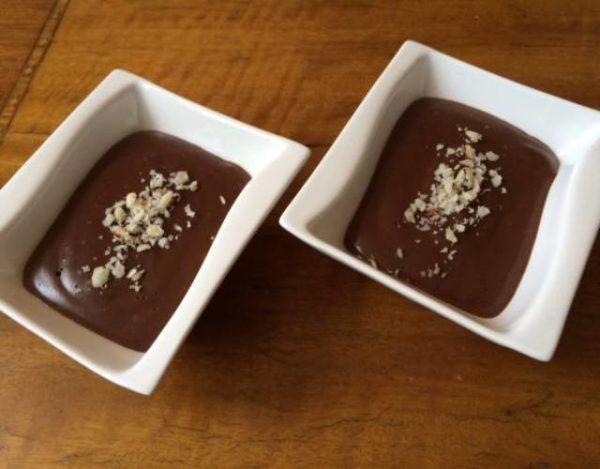 Natilla de chocolate sin huevo