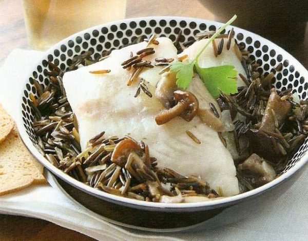 Mero con arroz salvaje