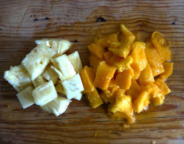 Receta de Natillas de mango y piña