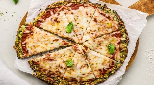 Pizza con Base de Calabacín al Horno