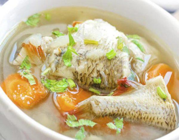 Receta de Sopa de verduras con pescado