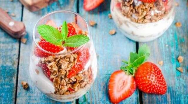 Yogur de Avena y Fruta