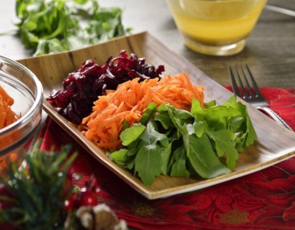 Receta de Ensalada de lechuga, zanahoria y betabel