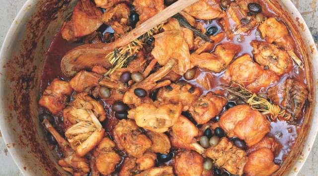 Codornices Guisadas con Aceitunas