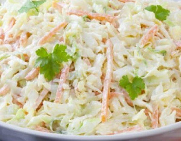 Ensalada de col con mayonesa