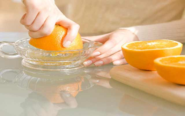 Chuleta a la naranja