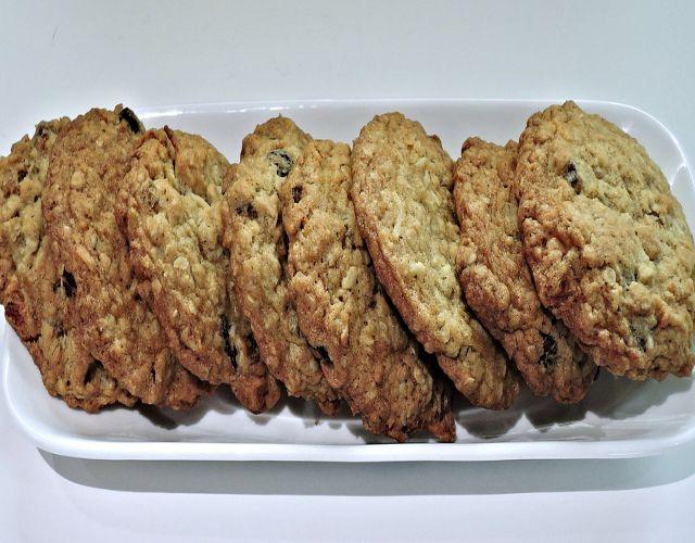 Receta de Galletas de avena y pasas veganas