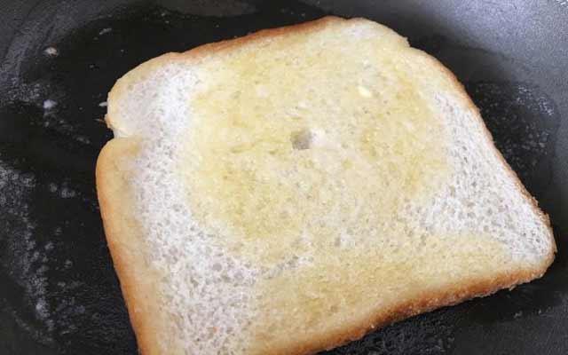 Tostada con mantequilla y canela