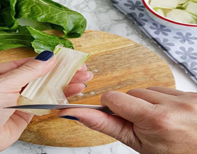 Receta de Acelgas esparragadas con jamón