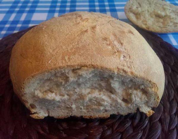 Pan casero sin masa madre