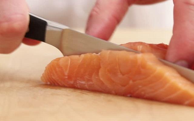 Salmón marinado japonés