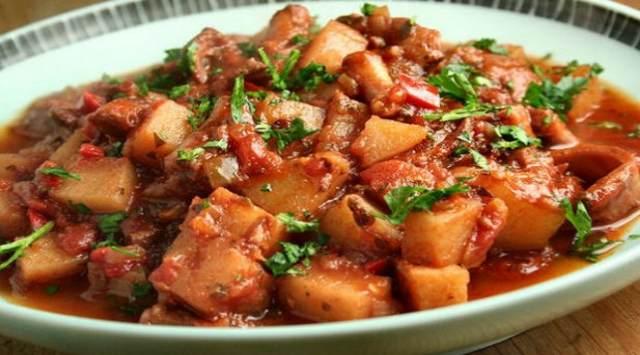 Estofado de Patatas y Pulpo