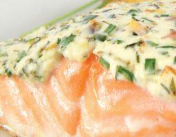 Salmón al horno con queso