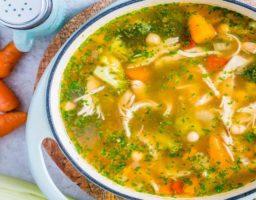 Receta de Sopa de verduras con jengibre