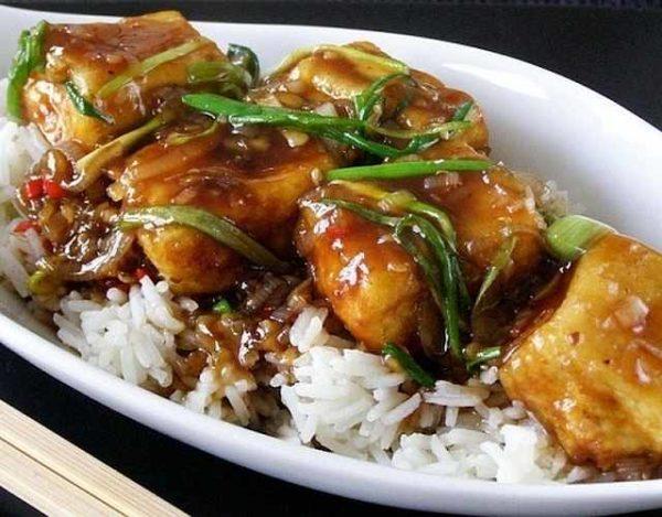 Tofu en salsa teriyaki