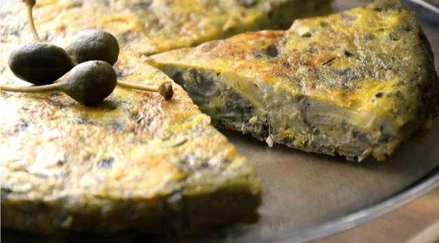 Tortilla de Alcachofa y Patatas