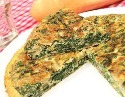 Tortilla de acelgas vegana