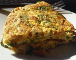 Receta de Tortilla de brócoli y coliflor