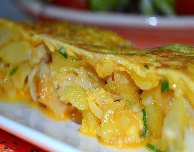Receta de Tortillas de patatas con bacalao
