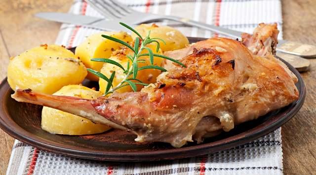 Conejo al Horno con Patatas