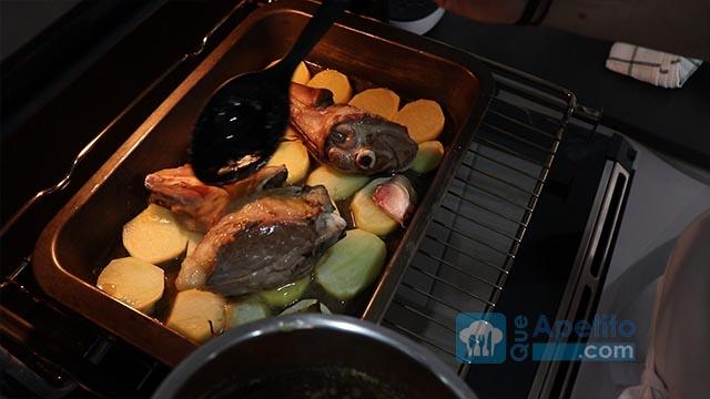 Jarretes de cordero con patatas